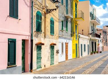 Traditional architecture in Alghero, Sardinia, Italy