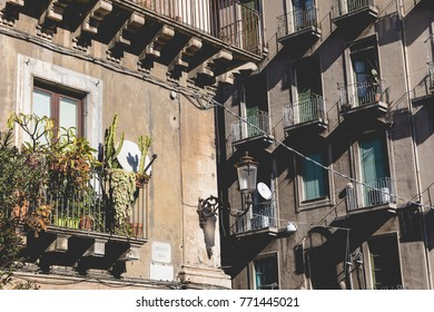 Traditional architecture in Catania, Sicily, Italy.