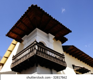 Traditional Architecture found in a House along the Main Square in Cusco, Peru