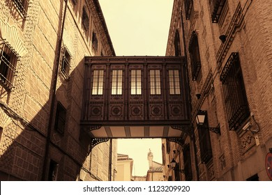 Traditional architecture in the historical center of Toledo