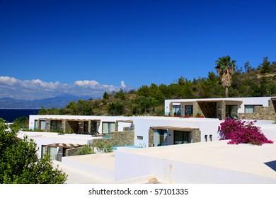Traditional architecture of Oia (Santorini island, Greece)