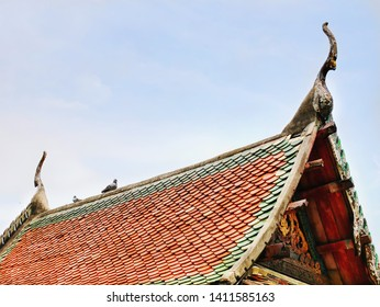 Traditional Architecture of Old Buddhist Temple Roof