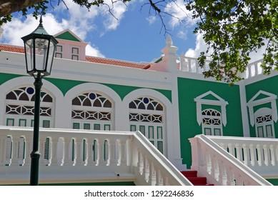 Traditional architecture in Oranjestad, Aruba
