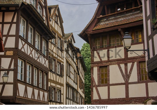 Traditional Architecture in Strasbourg in the French region of Alsace
