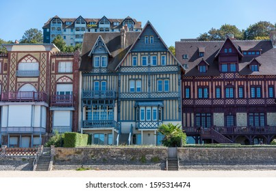 Traditional architecture in Trouvilee-sur-Mer, Normandy, France