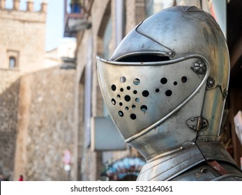 Traditional armor in the medieval city of Toledo (Spain)
