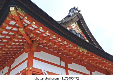 Traditional arquitecture in japanese temple
