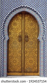 Traditional and artisanal door in Morocco