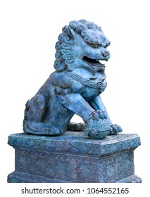Traditional asian lion statue
