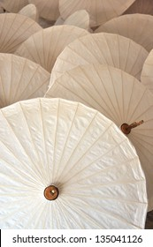 Traditional Asian paper umbrellas