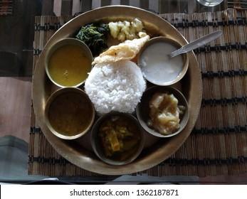 Traditional Assamese Thali