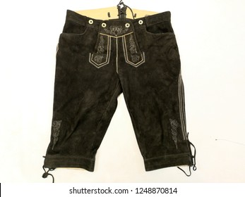 Traditional austrian and bavarian lederhosen (leather pants)