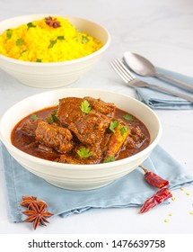 Traditional and Authentic Lamb Vindaloo, Popular Spicy Indian Lamb Curry