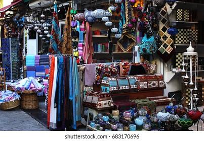 Traditional authentic Turkish market bazar