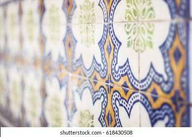 Traditional azulejo in Portugal, Europe