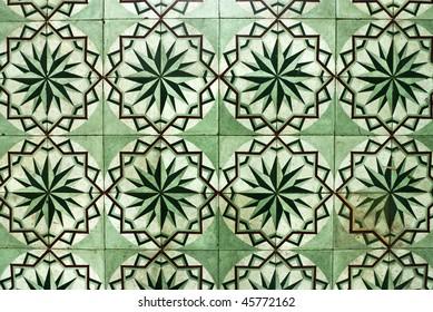 Traditional Baba and Nyonya house floor tile