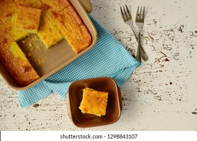 Traditional baked sweet coconut cassava cake