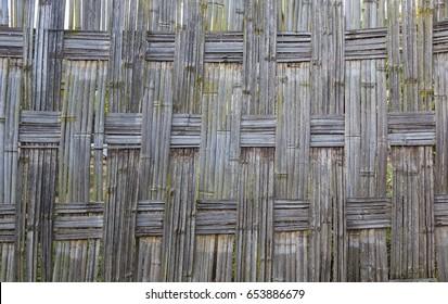 Traditional bamboo Dorze fence. Hayzo village. Omo Valley. Ethiopia.