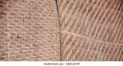 A traditional bamboo made surface isolated object photo