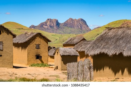 Traditional Bara villages dot the legendary National Route 7 in the southern part of the central plateau of Madagascar, near the Isalo National Park