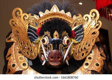 barong images stock photos vectors shutterstock https www shutterstock com image photo traditional barong bangkal mask costume bali 1661808760