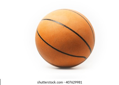 Traditional basketball isolated on white background