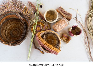 Traditional baskets weaved by Aboriginal people, Northern Territory