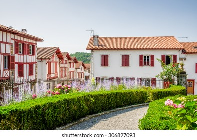 Traditional Basque houses in La Bastide-Clairence.