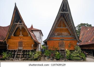 Traditional Batak house in Huta Siallagan village in Samosir. Some local people still use this  house to live. This place is now also open for travellers to visit.