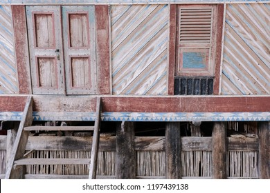 The traditional Batak house in Huta Siallagan village in Samosir, NOrth Sumatera, Indonesia. The house is still use wood as the main materials.