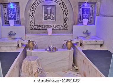 Traditional bath for women in Morocco