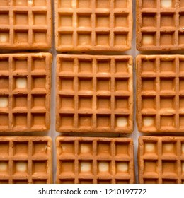 Traditional Belgian Waffles pattern. Square format.