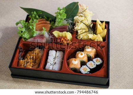 Traditional Bento Box Lunch Rice Salmon Stock Photo Edit Now