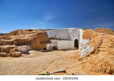 Traditional berber house near Matmata in Sahara Desert, Tunisia, Africa, HDR