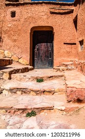 Traditional Berber town on the hillside. Africa Morocco Ait Ben Haddou