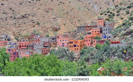 Traditional Berber Village in Atlas Mountains, near Marrakesh, Morocco
