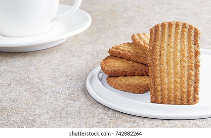 Traditional biscuit isolated on white tray
