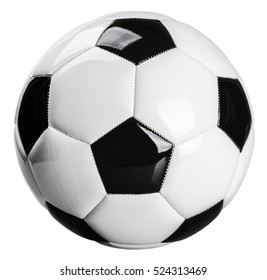 traditional black and white football isolated on white background