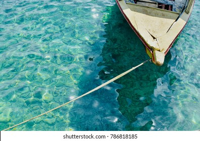 Traditional boat at the caribbean