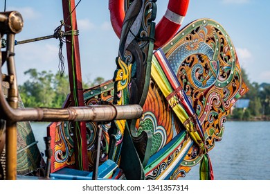 traditional boat as known as sampan in malaysia