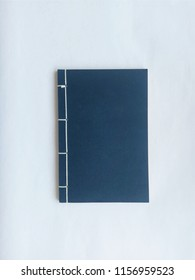 Traditional Bound Japanese Notebook. Watoji method binding. Minimalist, minimalism.