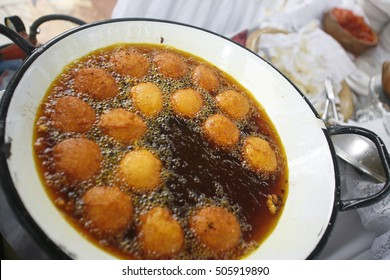 traditional brazilian food made with beans and shrimp