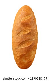 Traditional bread long loaf isolated on a white background