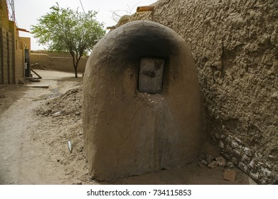 Traditional bread oven in Timbuktu, Mali -July, 2009