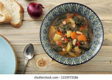 traditional bread soup or ribollita