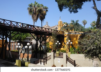 The traditional bridge of the sighs of Barranco in Lima-PERU