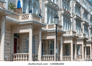 Traditional british detached houses seen in Notting Hill, London