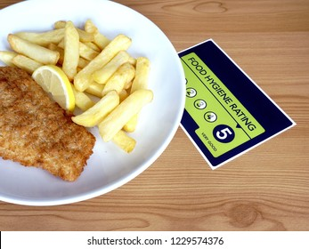 Traditional British fish and chips and VERY GOOD food hygiene rating