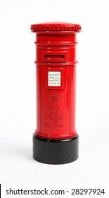 A traditional British post box.