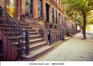 traditional brownstones home at new york city